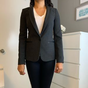 NWT BR blazer with leather accents